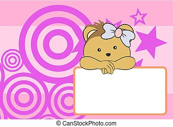 cute baby porcupine girl background in vector format very...