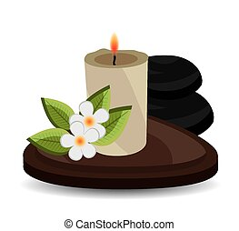 Spa design. - Spa design over white background, vector...