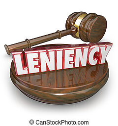 Leniency Word 3d Letters Merciful Sentencing Legal Court...