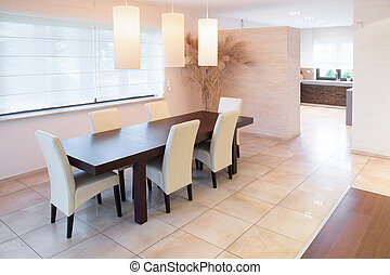 Spacious dining room - Spacious up-to-date dining room with...