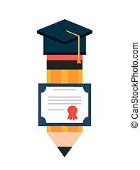 graduation icon design, vector illustration eps10 graphic