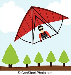 paragliding sport design, vector illustration eps10 graphic...