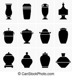 Cremation urns - Set of Cremation urns