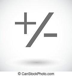Plus minus icon. - Plus minus. Single flat icon on white...