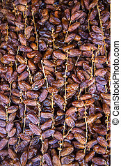 Dates on the market in Marrakesh, Morocco