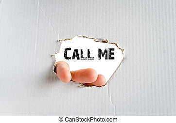 Call me - Hand and place for text on the cardboard...