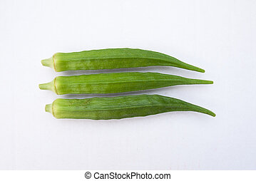 Okra fruits