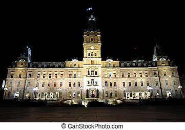 Quebec Parliament - View of the Parliament building at...