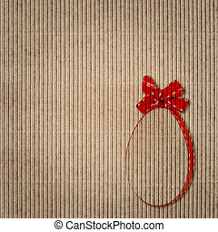 paper background with easter egg decoration