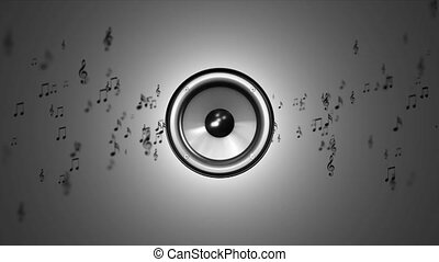 Music in the dynamics. Notes near speaker - Music in the...