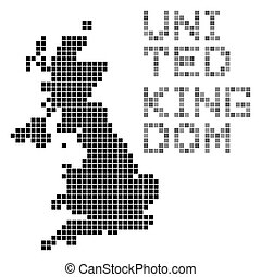 pixel art of United Kingdom (black)