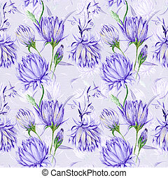 Vintage Purple Floral Pattern - Royal old style wallpaper...