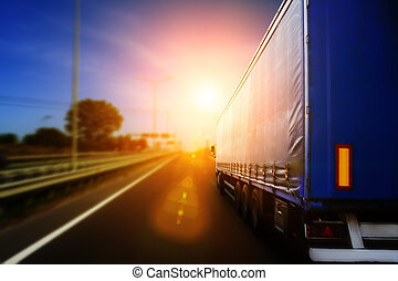 speed motion background - Blurred road and car, speed motion...