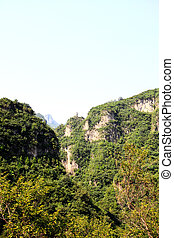 The scenery of Yun-Tai Mountain, a World Geologic Park