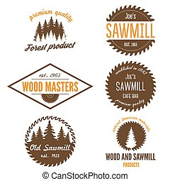 Set of logo, labels, badges or logotype elements for...