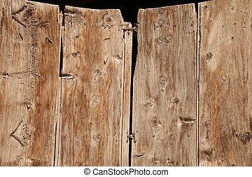 bois, porte,