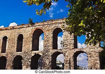 Aqueduct at Istanbul Turkey
