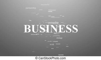 BUSINESS. Animation with different association terms.