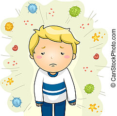 Boy Sick From Viruses
