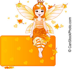 Thanksgiving fairy place card - Thanksgiving autumn fairy...