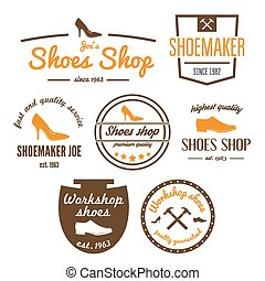 Set of vintage logo, badge, emblem or logotype elements for...