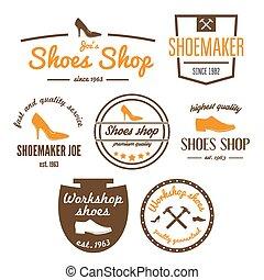 Set of vintage logo, badge, emblem or logotype elements for...