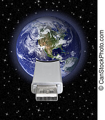 earth globe with usb connection