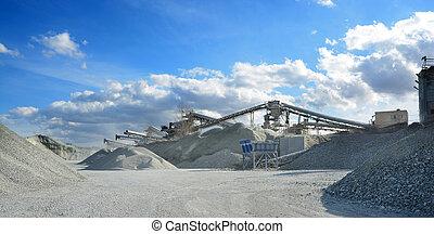 rock crusher machine in quarry