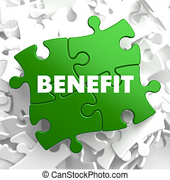 Benefit on Green Puzzle - Benefit on Green Puzzle on White...