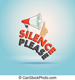 Silence Please sign for keep quite in vector