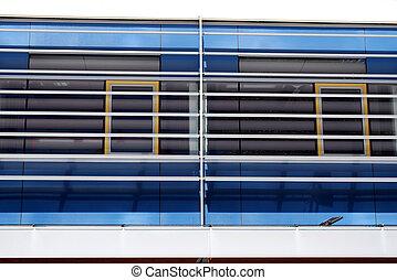 modern facade of an office building