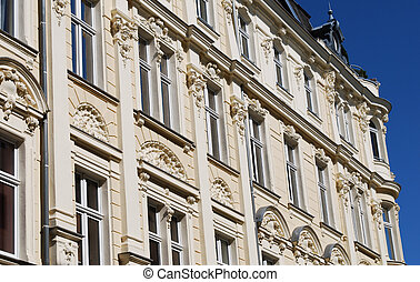 beautiful stucco facade in germany