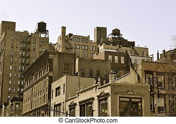Water towers on the top - Water tower are iconic in NYC and...