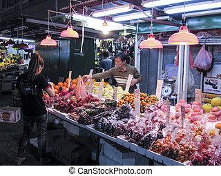 Fa Yuen street market Fruit store in Hong Kong - Hong Kong,...
