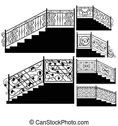 Wrought iron stairs railing.