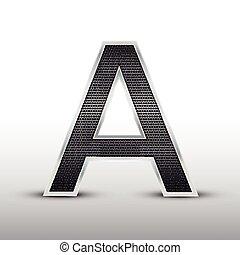 3d speaker grille letter A