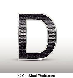 3d speaker grille letter D