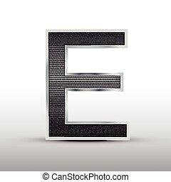 3d speaker grille letter E