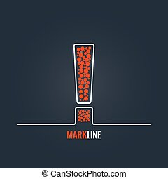 exclamation mark attention warning background