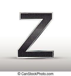 3d speaker grille letter Z