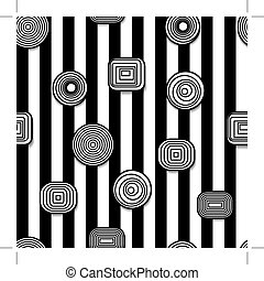 Hypnotic seamless - Black and white hypnotic and psychedelic...