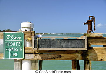 Sanibel fish cleaning station