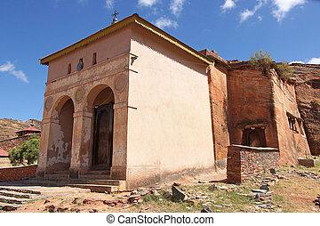 Monolithic church, Ethiopia, Africa - Monolithic church...