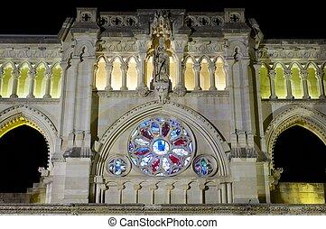 Cuenca cathedral - Rose window in Cuenca cathedral, Castilla...