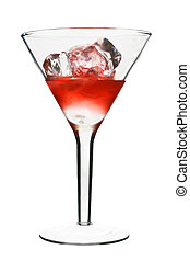 Cosmopolitan - Red Alcoholic Cocktail. Isolated on White...