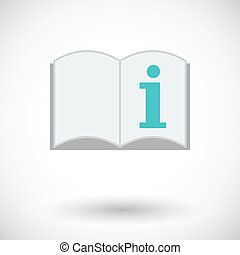 See owner manual Single flat icon on white background Vector...