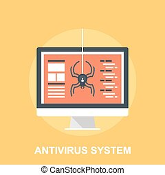 Antivirus System - Vector illustration of antivirus system...