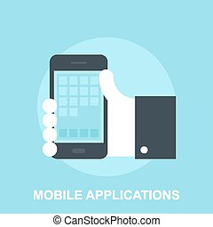 Mobile Applications - Vector illustration of mobile...