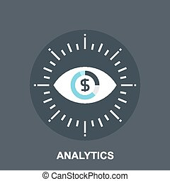 Analytics - Vector illustration of analytics flat design...