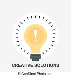 Creative Solutions - Vector illustration of creative...